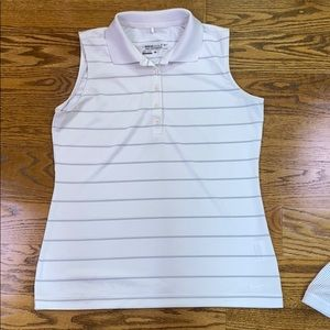 Nike dri fit sleeveless polo size medium